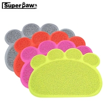 Paw Print Dog Cat Litter Mat Puppy Kitty Dish Feeding Bowl Placemat Tray Tidy Easy Cleaning Cats Sleeping Pad Pet Products LYD02
