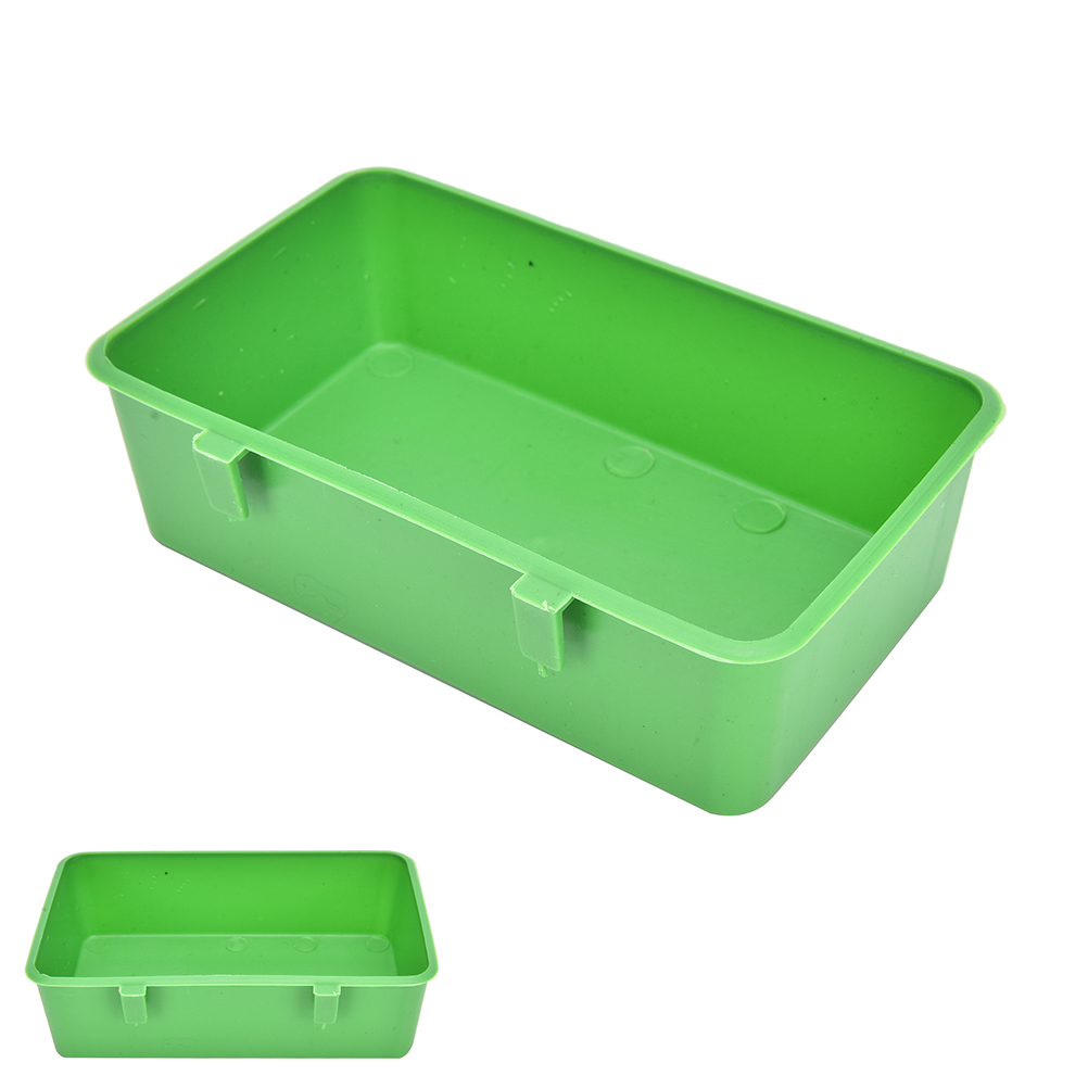 1PC Plastic Parrot Bird Bathtub Bath Clean Box Feeding Food Water Box Pet Toy Acces