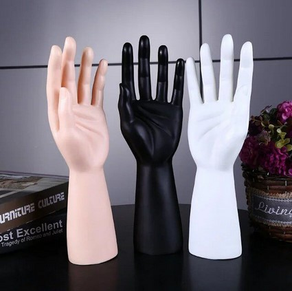 30cm Mannequin Hand White Yellow Black 3 Color Arm Jewelry Stand Nure Plastic Hands For Ring Bracelet Gloves Tray