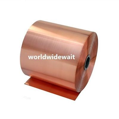 1PC 99.9% Pure Copper Cu Metal Sheet Foil Plate 0.01/0.02/0.03/0.04/0.05/0.06/0.08mm X 100mm X 1000/2000mm Thickness