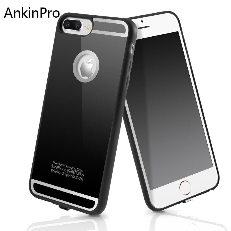 ce211b8788c CinkeyPro cargador inalámbrico receptor funda de teléfono para iPhone 6 7 6  S 6 Plus Universal portátil de carga inalámbrica 5 V/1.5A