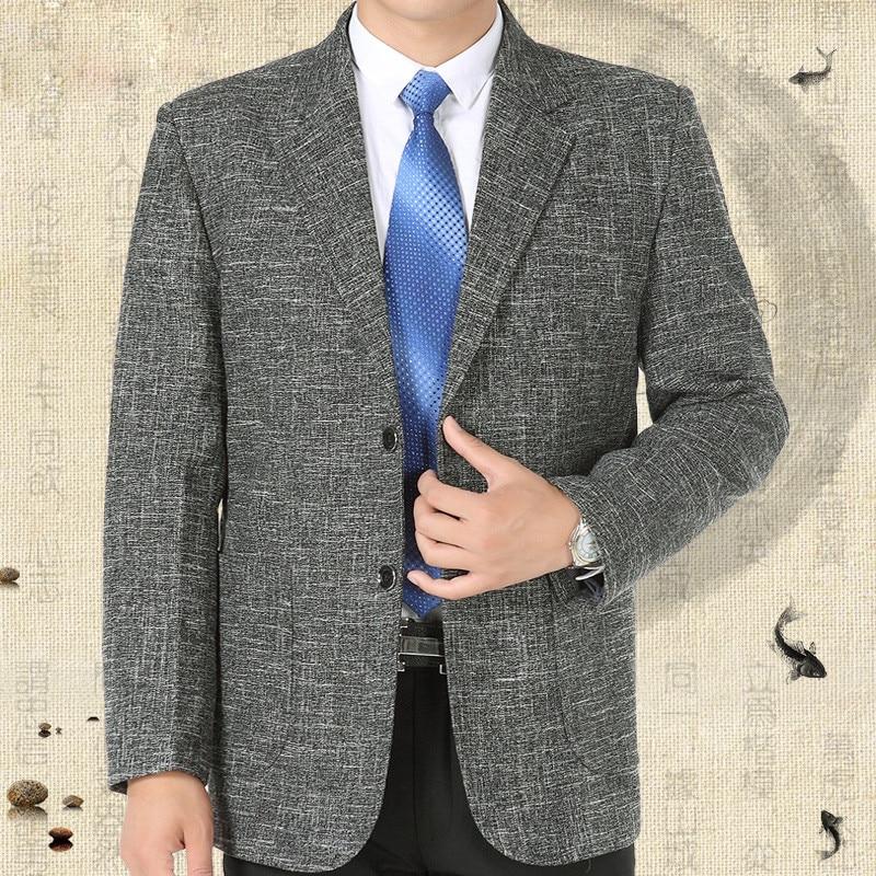 Erkek Kıyafeti'ten Blazerler'de Ofis Blazer Erkek Moda Rahat Takım Elbise Ve Ceketler Gevşek Uzun Kollu Vintage Erkek Dış Giyim Palto Ceketler Blazer A3635'da  Grup 1