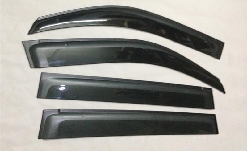 Sun rain guards window trim window visor For Suzuki Grand Vitara 5Door 2007-2014 4pcs blade side windows deflectors door sun visor shield for toyota verso ez 2011 2014