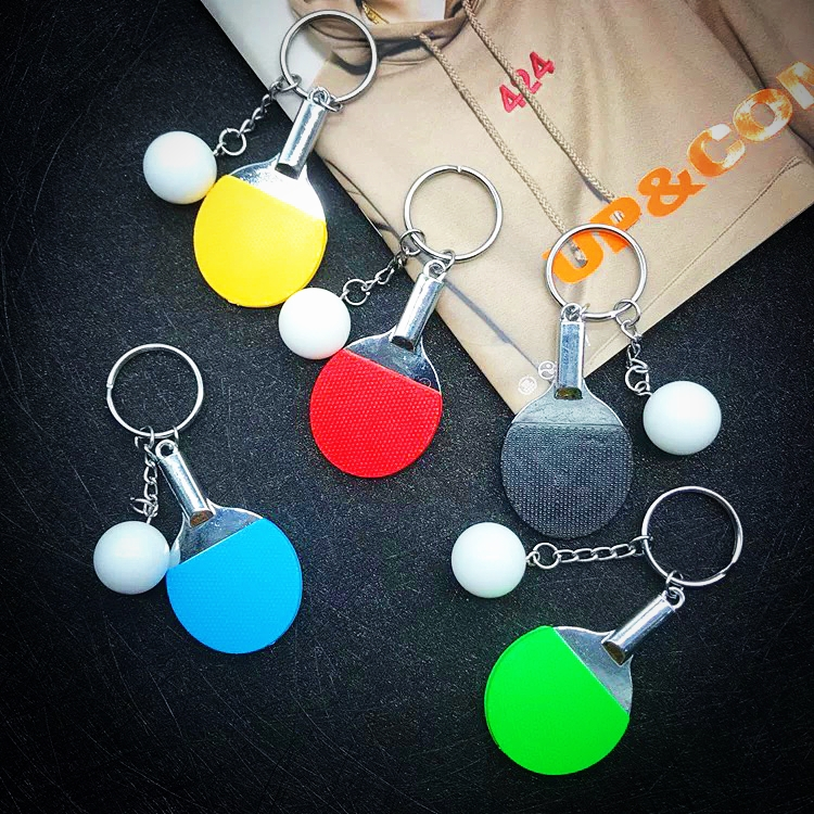 FREE SHIPPING BY DHL 300pcs lot Cheap Zinc Alloy PingPong Keychains Table Tennis Keyrings Sports Key