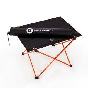 Image 4 - Taşınabilir katlanabilir katlanır masa 4 ila 6 kişi masası kamp barbekü yürüyüş seyahat açık piknik 7075 alüminyum alaşımlı Ultra işık