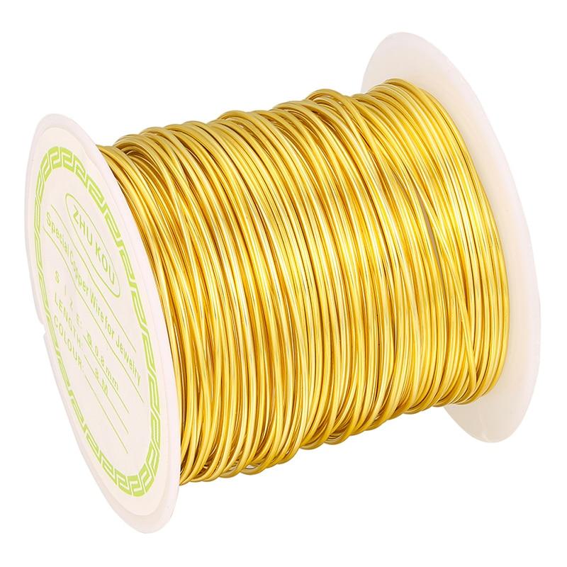 ZHUKOU Kupfer Draht 0.5/0.6/0.7/0,8mm gold/Silber Farbe Kupfer 1 Rolle Perlen Schnur erkenntnisse DIY modell: PX1