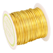 Zhukou 銅線 0.5/0.6/0.7/0.8 ミリメートルゴールド/シルバー色の銅 1 ロールビーズコード所見 diy モデル: PX1