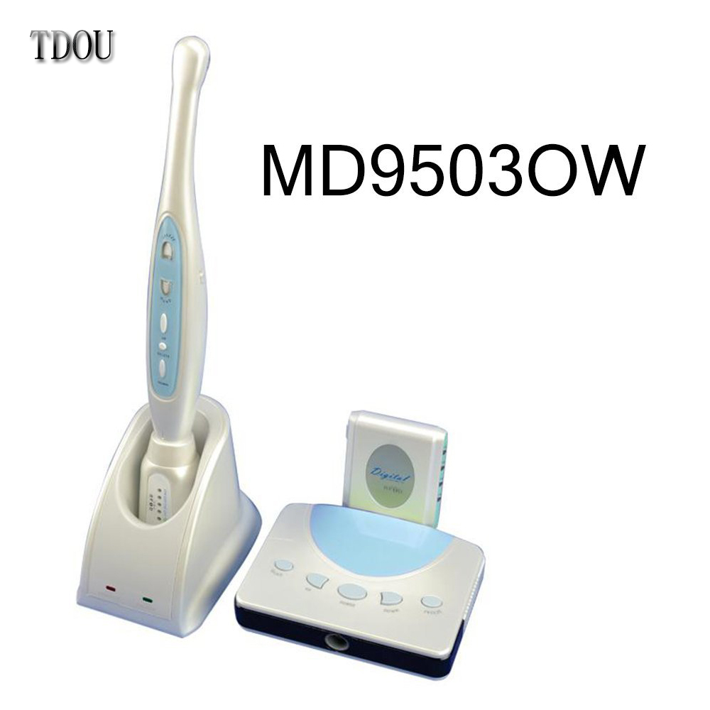 TDOUBEAUTY Wireless Receiving Perfect New Dental Wireless Intraoral Camera 2.0 Mega Pixels Sony CCD MD9503OW  Free Shipping