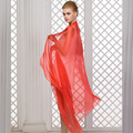 Mulberry silk silk scarf female summer quality all-match long design solid color silk scarf beach cape