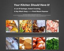 8KG food garbage processor disposal crusher food waste disposer Stainless steel Grinder material kitchen sink appliance