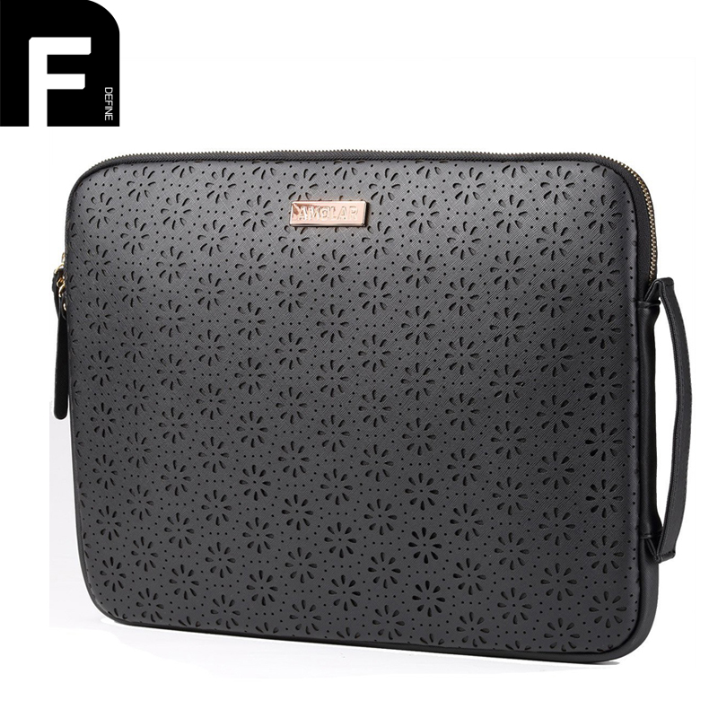 Women Leather Handbag Laptop Case for 13.3 Macbook 14 15.6 Inch Laptop Sleeve Black Leather Women Tote Bag Stylish Computer Bag original a1706 a1708 lcd back cover for macbook pro13 2016 a1706 a1708 laptop replacement