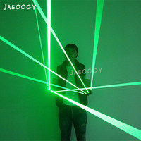 Free Shipping 532nm Laser Gloves Halloween Party Green Glowing Gloves Glasses Stage Performance Singer DJ Dancing Laser Show