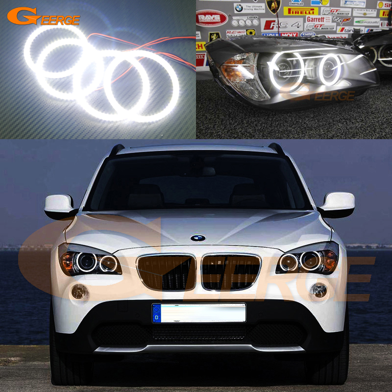 For BMW X1 E84 2010 2011 2012 2013 2014 2015 Xenon headlight Excellent DRL Ultra bright illumination smd led Angel Eyes kit