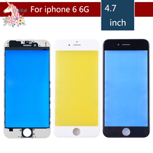 10pcs/lot For iPhone 6 6G Touch Screen Digitizer Lens Front glass LCD panel with frame bezel for iphone6 LCD External GLASS