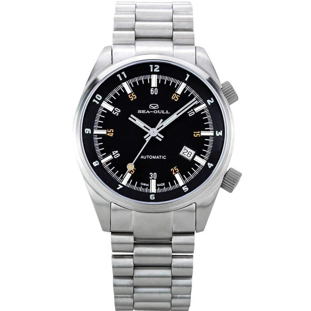 Genuine <font><b>Seagull</b></font> 816.528 Mechanical men's Watch auto date Self Wind Automatic Men's Watch <font><b>ST2130</b></font> Movement image