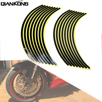 Hot Motorcycle Wheel Sticker Reflective Decals Rim Tape Car/bicycle For Honda PCX 125 150 KAWASAKI Versys 650 KLZ1000 Z400 image
