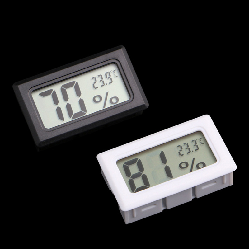 1Pcs Mini LCD Digital Thermometer Hygrometer Temperature Indoor Convenient Temperature Sensor Humidity Meter Gauge Instruments