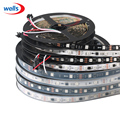WS2811 led strip 5m 30/48/60 leds/m,10/16/20 pcs ws2811 ic/meter,DC12V White/Black PCB, 2811 led strip Addressable Digital