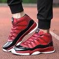 Nuevos Zapatos Para Caminar Al Aire Libre de Los Hombres Zapatos Ocasionales Del Deporte Para Adultos Transpirable Cesta Inferior Grueso Rojo de Malla de Aire Entrenadores Tamaño 39-44