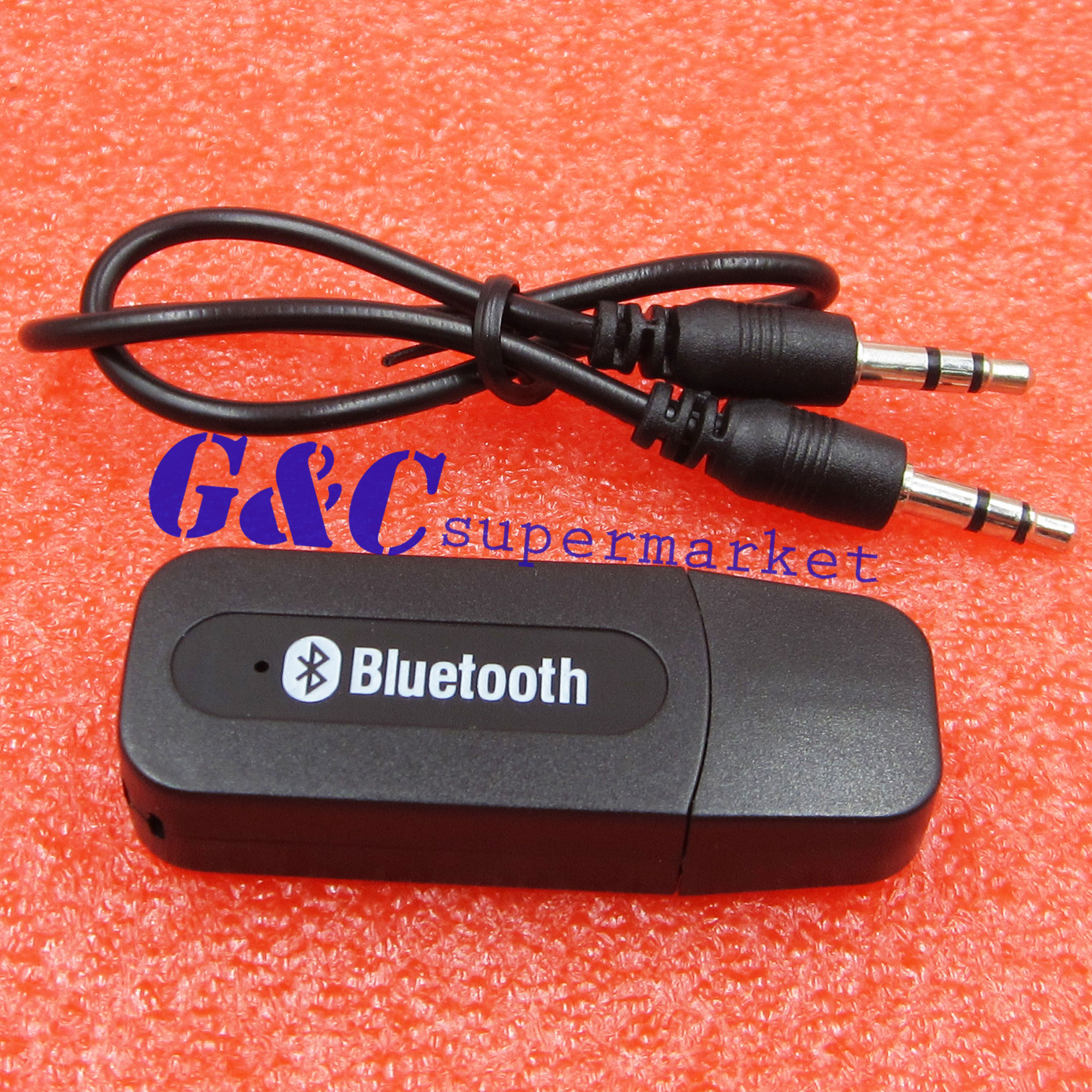 Wireless Bluetooth 3.5mm AUX Audio Stereo Music Home Car Receiver Adapter Mic-in Integrated