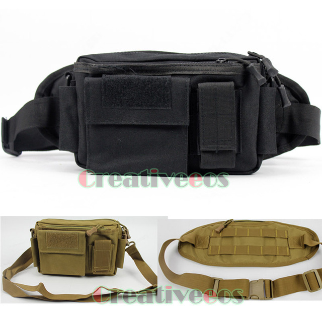 Men Waterproof 1000D Nylon Travel  Military Hip Bum Messenger Shoulder Belt Fanny Pack Waist Bag Pouch