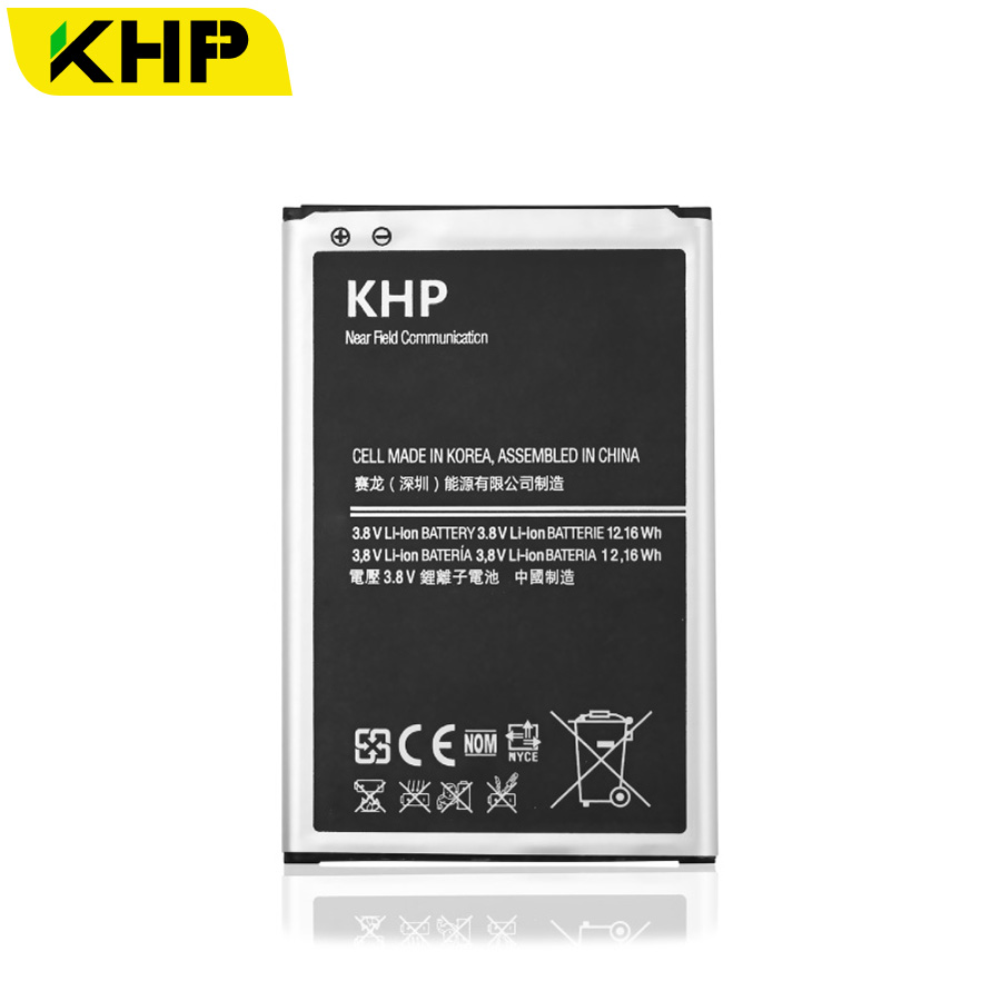 imágenes para Batería Original Para Samsung Galaxy Nota 100% Nota 3 KHP 3 N9000 N9005 N7200 Real 3200 mAh AAA Reemplazo Del Teléfono Móvil baterías