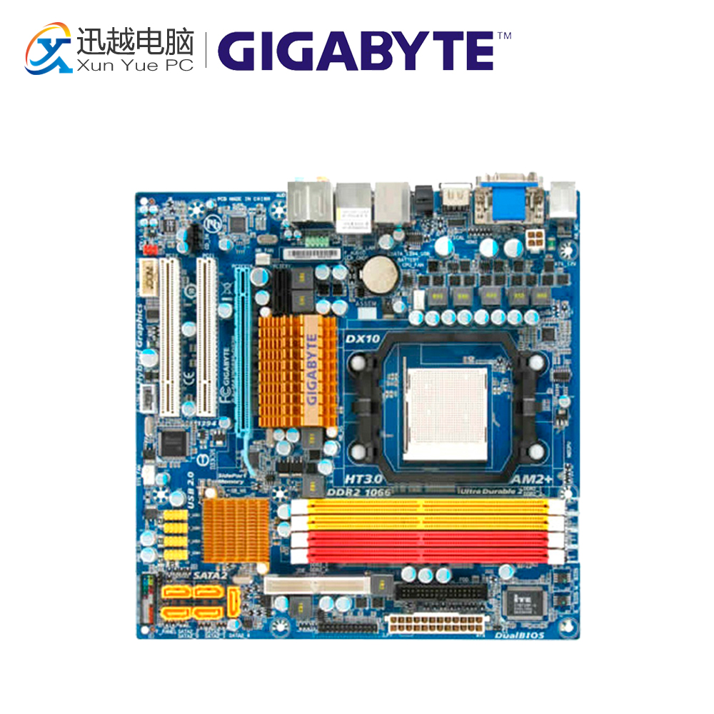 Gigabyte GA-MA78GPM-DS2H Desktop Motherboard MA78GM-S2HP 780G Socket AM2 DDR2 SATA2 USB2.0 Micro ATX for gigabyte ga ma78g ds3hp original used desktop motherboard for amd 780g socket am2 for ddr2 sata2 usb2 0 atx