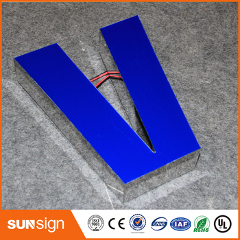 3D custom resin led letter frontlit channel letter for outdoor