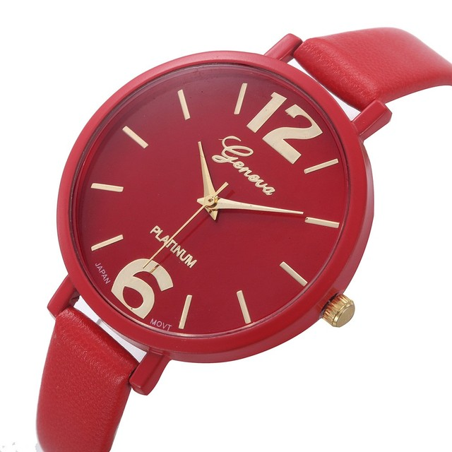 10 Colors Women Bracelet Watch Relojes Mujer 2017 Geneva Famous Brand Ladies Leather Analog Quartz Wrist Watch Clock Women #N