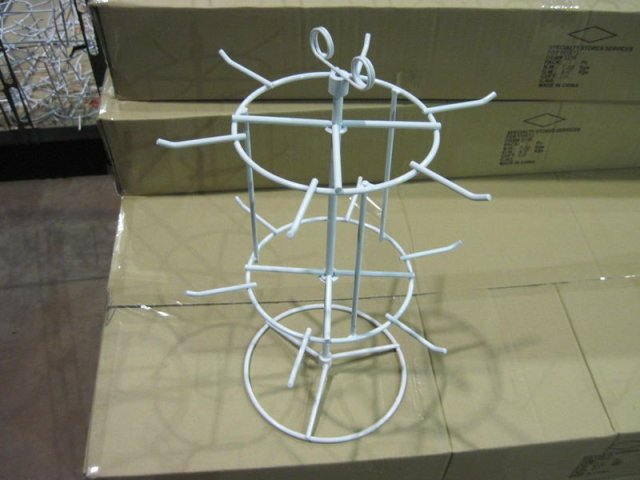 2 Tier Countertop Wire Spinner Display Rack With Sign Holder Rotating Stand Factory Price