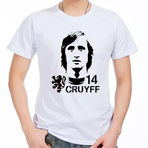 Men's Short sleeve t-shirt Hendrik Johannes Cruyff Holland Nederland Ajax Barcelona The Godfather 100% cotton tshirt jersey fan