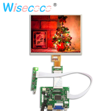 цена на 8 inch IPS 1024*768 LCD display screen HJ080IA-01E HE080IA-01D Driver Board Audio Control For Raspberry HDMI VGA