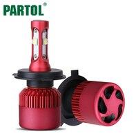 Partol H4 H7 H11 9005 9006 H13 Car LED Headlights Bulbs 80W 9600LM CREE XHP50 Chips