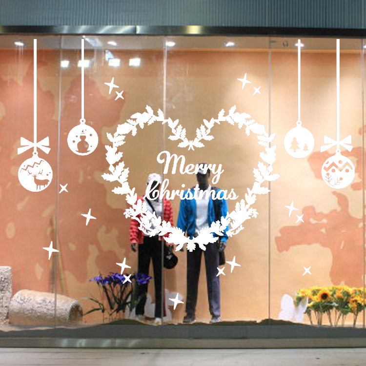 Bolas de Nieve de navidad Año Nuevo Shop Fortuna Campana Tienda Etiqueta de La P