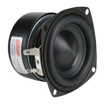 GHXAMP 3 inch Woofer Subwoofer Speaker 4ohm 25W Hifi Square Bass Speaker Black Alumina Ceramic Cap Rubber Edge 2pcs 3