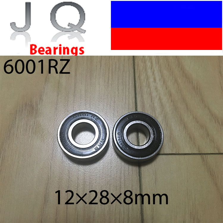 JQ Bearings Deep Groove Ball Bearing Free Shipping 10 Pcs 6001 2RS 6001RS 6001-2RSH 6001-2RS1 180101 12*28*8 mm Free Shipping best price 10 pcs 6901 2rs deep groove ball bearing bearing steel 12x24x6 mm