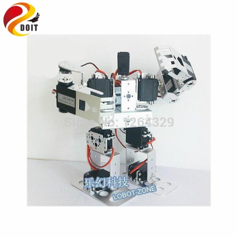 11DOF Humanoid Robot Feet/Walking Robot / a full Set Servo Bracket for Robot +11 PCS High Torque Servos / Robot jx pdi 5521mg 20kg high torque metal gear digital servo for rc model