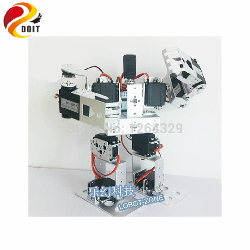 Official DOIT 11DOF Humanoid Robot Feet/Walking Robot / a full Set Servo Bracket for Robot +11 PCS High Torque Servos / Robot