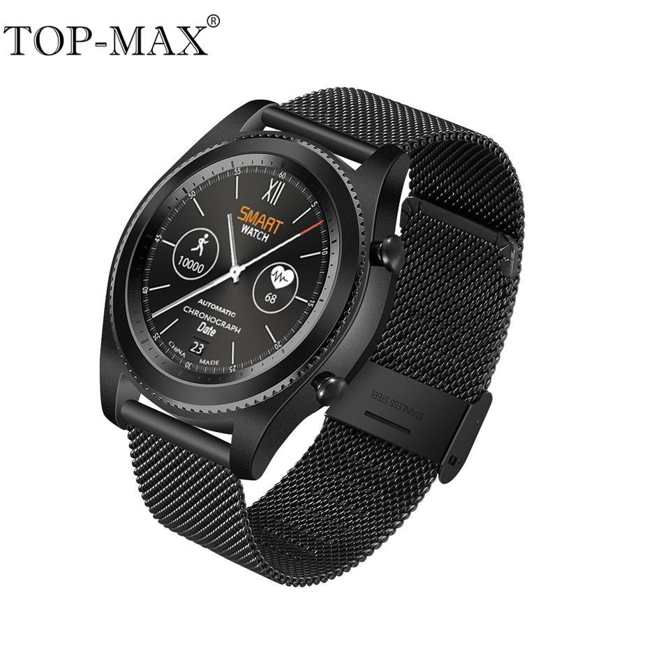 TOP-MAX NO.1 S9 Touch Smart Watch Bluetooth 4.0 Smartwatch Heart Rate Monitor Altitude Air pressure UV Miles Calorie Monitor no 1 g6 eu us bluetooth 4 0 heart rate monitor smart watch black