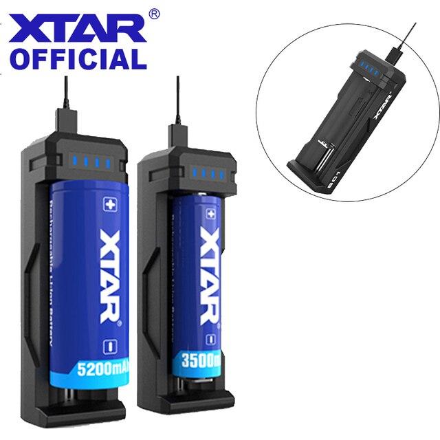 XTAR cargador USB SC1, cargador rápido recargable, 18700/20700/21700/22650/25500/26650, batería de ion de litio, LED, 18650