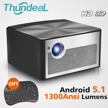 ThundeaL HD DLP Projector H1 Android WiFi Shutter Active 3D Smart Beamer 1300 ANSI Lumens Support 1080P 2K 4K Mini LED Proyector