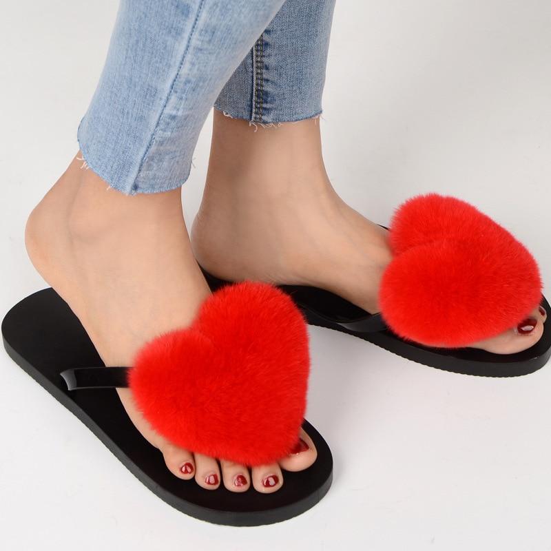 slipper real fur pompom (12)