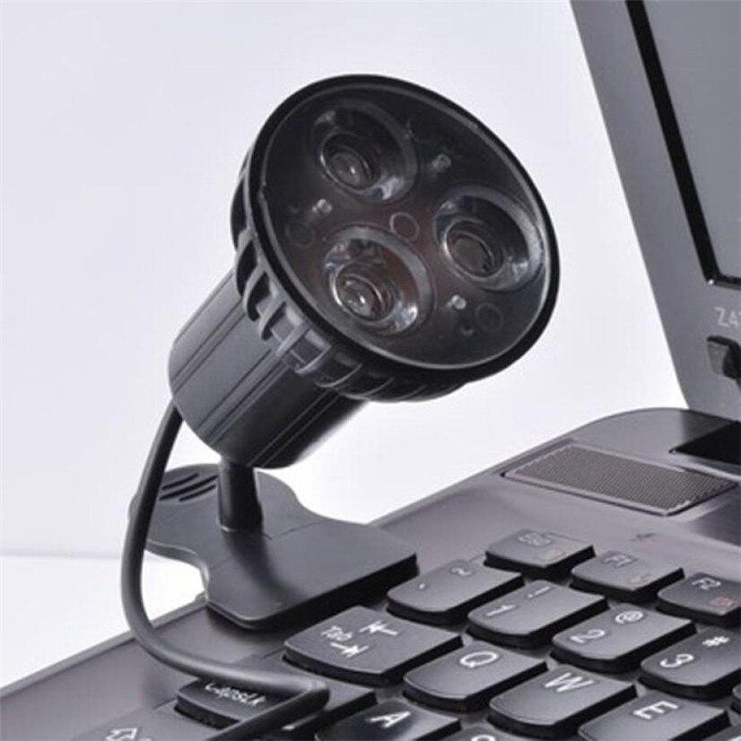 Цена Завода USB 3-LED Clip-на стол Чтение свет лампы накаливания для портативных компьютеров mfeb14 wl1l прямая доставка