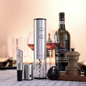 Image 5 - 4in1 Youpin Circle Joy Automatic Red Wine Bottle Opener Round Wine Stopper Stainless Steel Electric Corkscrew Gift