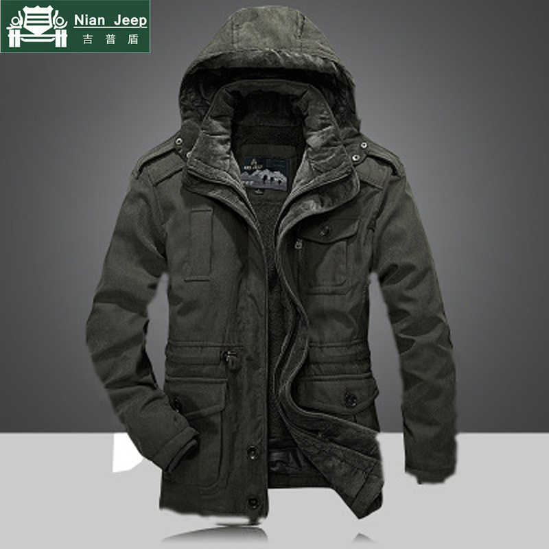 d7067afac48f Detail Feedback Questions about 2018 Men s Winter Thicken Warm Hooded  Military Brand Army Green Jacket Coat Men Cotton afs jeep khaki fleece  thick jacket ...