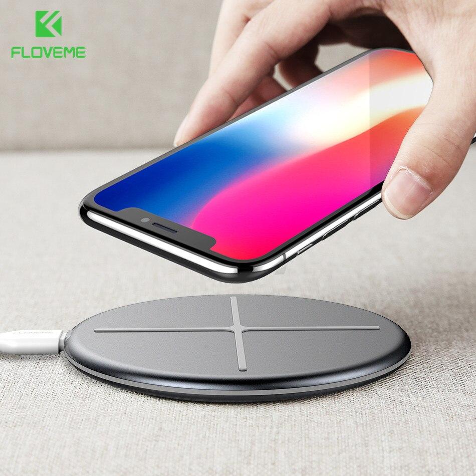 FLOVEME Nuovo Disegno Caricabatterie Senza Fili Per iPhone X 8 Caricabatterie Wireless Pad Per Samsung S9 S8 S7 S6 Galaxy Note 8 Per NEXU S4 S5 S6