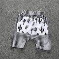 2017 Cactus Raya Del Verano Niños Niños niños Bebés Pantalones Harem Flojos Pantalones Cortos de Algodón Fresco Niños Shorts 1-5Y