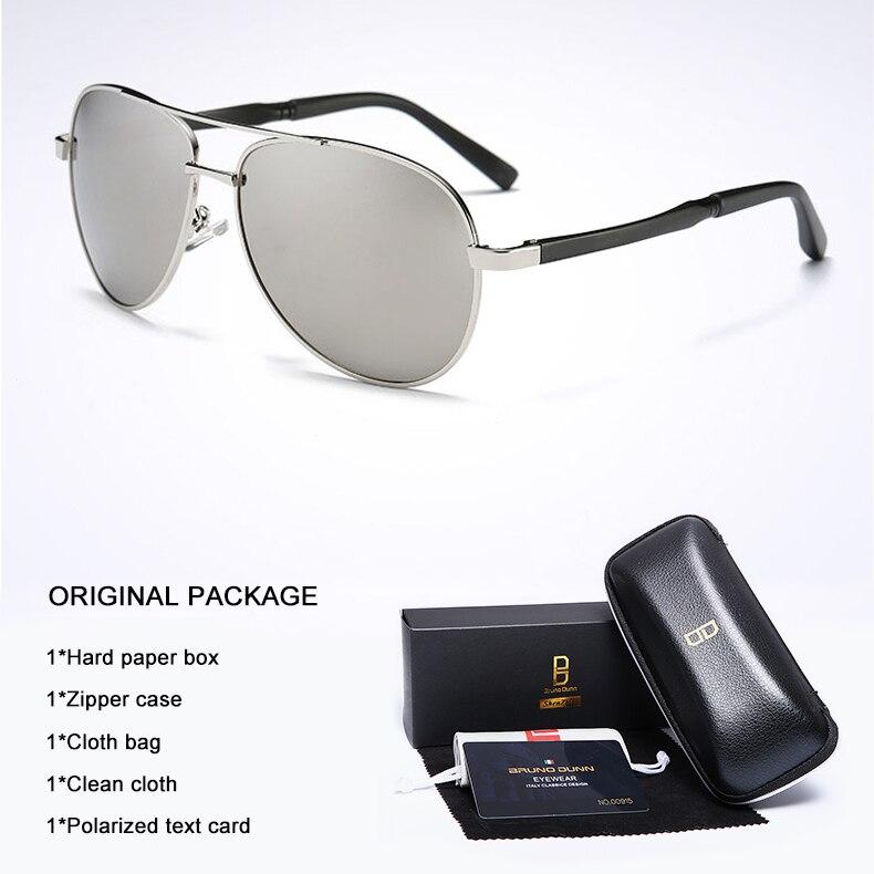 Bruno Dunn 2020 Aviation Men Sunglasses Polarized Sun Glases oculos de sol masculino aviador UV400 high quality  Sunglases 10