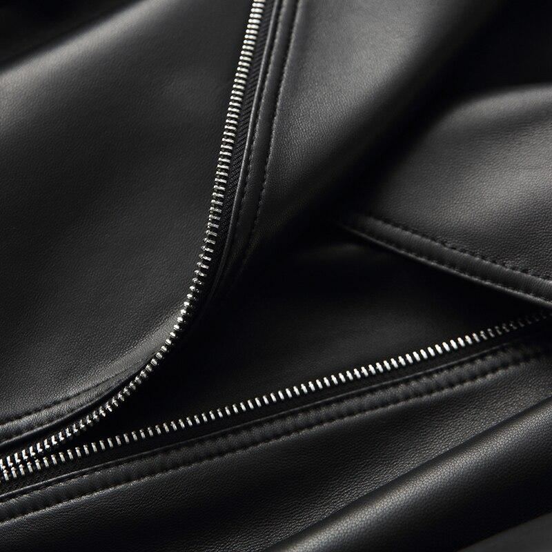 Ayunsue Printemps Naturel Peau Survêtement Courtes En Femmes Cuir De Automne Femme Vestes Véritable Manteau Black Moto Veste Wyq1319 2018 Mouton SxqSwrKOf
