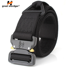 купить Tactical Belt Military Automatic Buckle Belt Training Waistbelt Nylon Belt Men SWAT Army Combat Safety Quick Release Waist Belt дешево